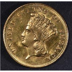 1878 GOLD $3  CH BU