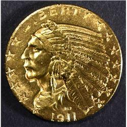 1911 GOLD $5 INDIAN HEAD  GEM BU