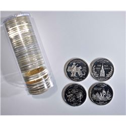 ROLL OF 40 2000-S PROOF SILVER QUARTERS