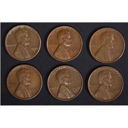 6-1926-S LINCOLN CENTS, XF