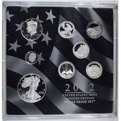 2012 LIMITED EDITION SILVER PROOF SET NO BOX/COA
