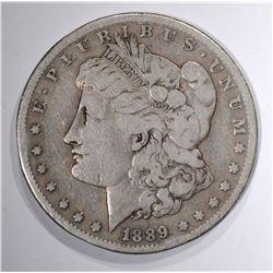 1889-CC MORGAN DOLLAR FINE +