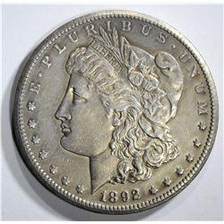 1892-CC MORGAN DOLLAR AU CLEANED