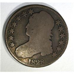 1828 BUST HALF DOLLAR, GOOD