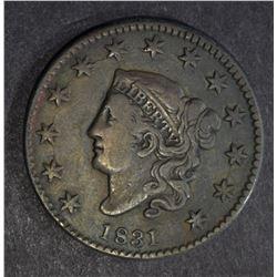1831 LARGE CENT, VF