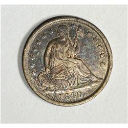 1840 SEATED HALF DIME, AU