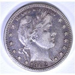 1902 BARBER QUARTER, XF
