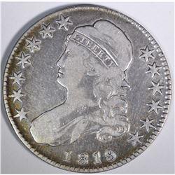 1819 CAPPED BUST HALF DOLLAR, VF