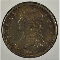 1835 CAPPED BUST QUARTER