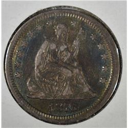 1876-CC SEATED LIBERTY QUARTER  XF