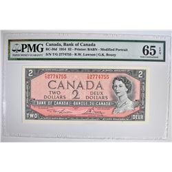 1954 $2 CANADA, BANK OF CANADA