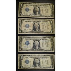 "4-1928 SILVER CERTIFICATES  ""FUNNY BACK NOTES"" NIC"