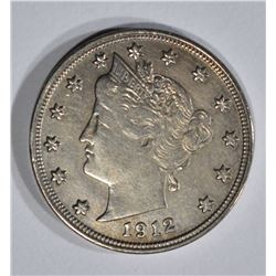 "1912-S LIBERTY ""V"" NICKEL  AU+"