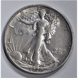 1920-S WALKING LIBERTY HALF DOLLAR  AU
