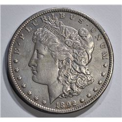 1892-CC MORGAN DOLLAR AU+