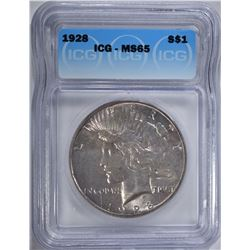 1928 PEACE DOLLAR ICG - MS65