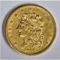 1838 $5 GOLD CLASSIC HEAD  CH AU