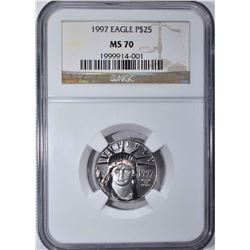 1997 PLATINUM $25 EAGLE NGC MS 70