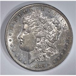 1884-S MORGAN DOLLAR  NICE AU