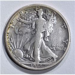 1916 WALKING LIBERTY HALF DOLLAR  F-VF