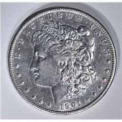 1901-S MORGAN DOLLAR  AU++
