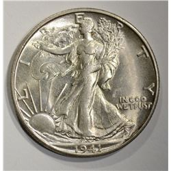 1941-S WALKING LIBERTY HALF DOLLAR  CH BU