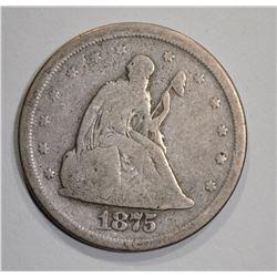 1875-S TWENTY CENT  VG