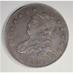 1821 CAPPED BUST QUARTER  CH BU