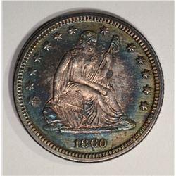 1860 SEATED QUARTER  CH BU
