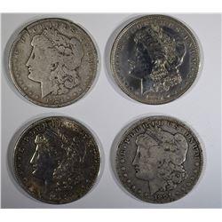 1901-O & 3-1921 CIRC MORGAN DOLLARS