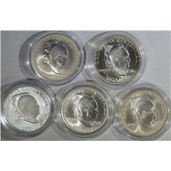 5 EISENHOWER COMMEM SILVER DOLLARS