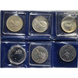 3-80% SILVER & 3-50% SILVER CANADIAN DOLLARS