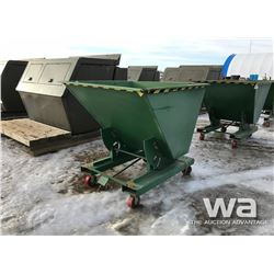 1.5 YARD TIPPER BINS ON CASTER WHEELS