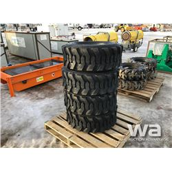 (4) 12-16.5 NHS SKID STEER TIRES