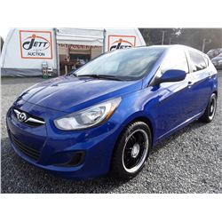 B2 --  2013 Hyundai Accent GLS , Blue , 128499  KM's