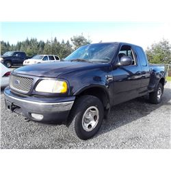 F2 --  2000 Ford F150 Ext Cab , Blue , Unknown  KM's