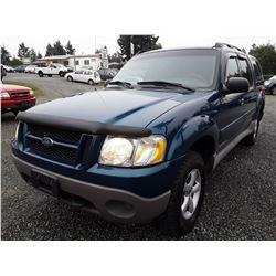 I4 --  2002 Ford Explorer Sport Trak , Blue , 227995  KM's
