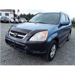 J4 -- 2002 Honda CR-V , Blue , 295553  KM's