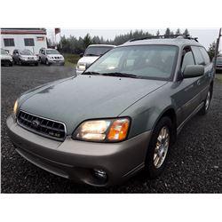 E1 --  2003 Subaru Outback 3.0 Special , Green , 278506  KM's
