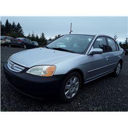 C4 -- 2002 Honda Civic , Silver , 250345  KM's