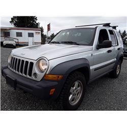 J2 --  2007 Jeep Liberty Sport , Grey , 237851  KM's