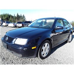 D6 --  2000 VW Jetta  GLS , Blue , 257028  KM's