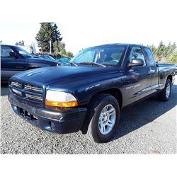 F5 --  2001 Dodge Dakota Sport , Blue , 191692  KM's