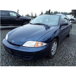 A9 --  2001 Chevrolet Cavalier , Blue , 236214  KM's