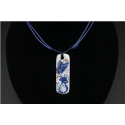 "A Contemporary Blue-and-White Pendant with ""Butterfly"" Pattern."