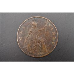 1919 One Penny Coin.