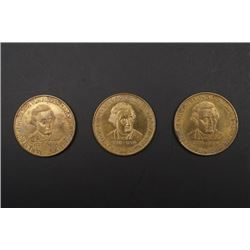Three Jamescook Commemorative Coins.