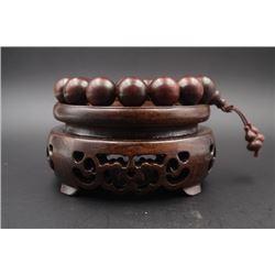 Rosewood Bead Bracelet.
