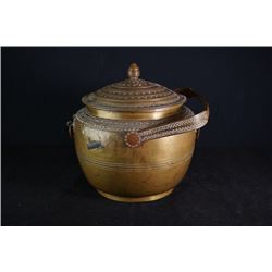 "Late Ming Dynasty Cooper Engraved ""Floral"" Pot."