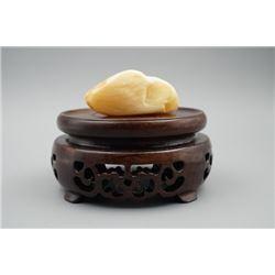 A Baltic Royal White Amber Palm Piece Stone.